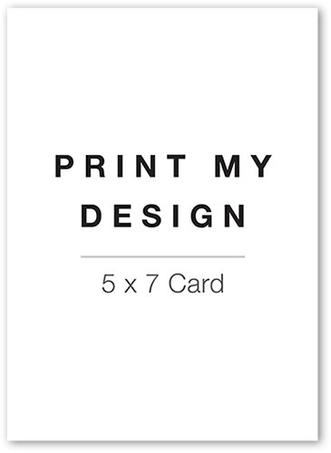 Print My Design Thank You Card