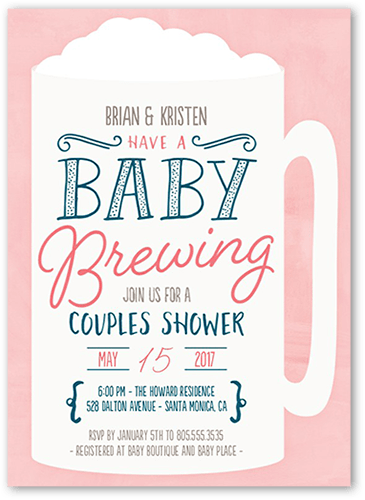 It S Brewing Baby Shower Invitation