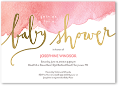 280ca5a0885 watercolor baby girl baby shower invitation