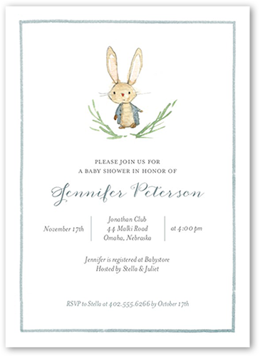 Storybook Shower Boy Baby Shower Invitation, Square Corners