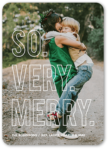 Extraordinarily Merry Holiday Card, Rounded Corners