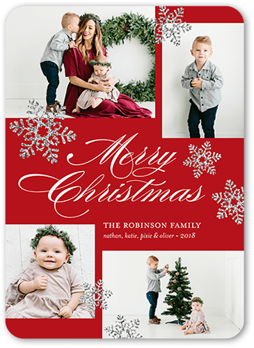 Glorious Merriment Holiday Card, Rounded Corners