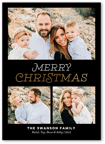 Beaming Merriment Holiday Card