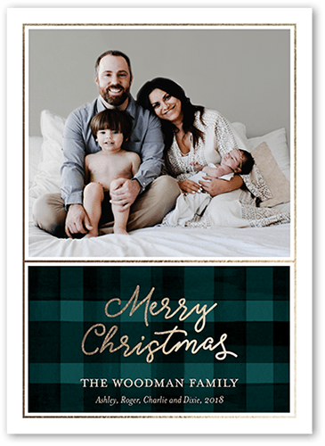 Modern Comfort Holiday Card, Square Corners