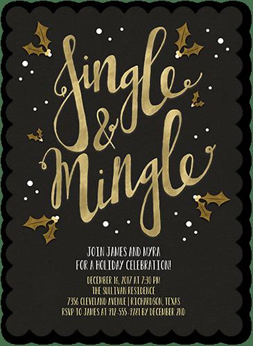 Jingle & Mingle Holiday Invitation, Square