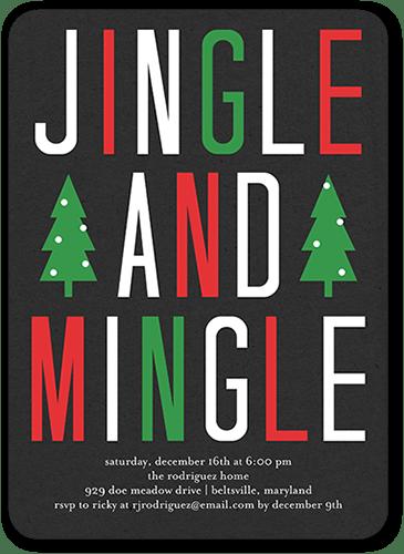 Simple Social Holiday Invitation, Square