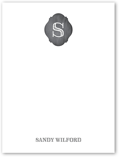 Monogram Marking Personal Stationery