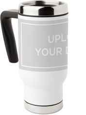 upload your own design travel mug with handle