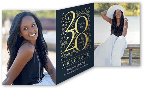 Engraved Grad 5x7 Graduation Announcement By Stacy Claire Boyd