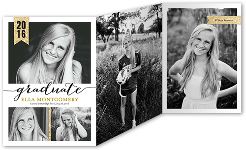 Sparkling Senior Graduation Announcement
