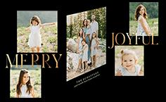 elegant editorial holiday card