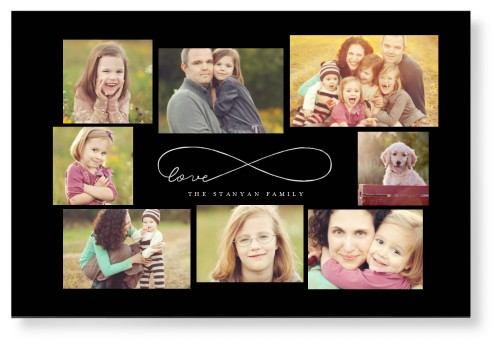 Love Infinity Mounted Wall Art, Single piece, None, 24 x 36 inches, Black