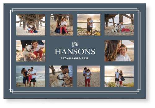 Family Border Collage Mounted Wall Art, Single piece, None, 24 x 36 inches, DynamicColor