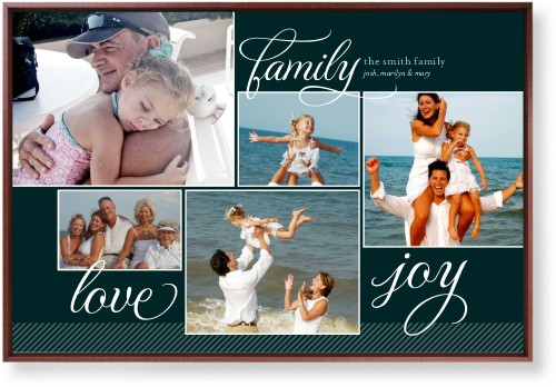 Family Sentiments Mounted Wall Art, Single piece, Brown, 24 x 36 inches, Black