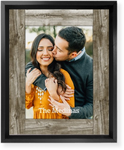 Wood Photo Real Mounted Wall Art, Single piece, Black, 8 x 10 inches, Beige