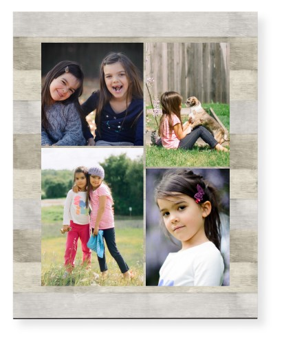 Overlap Photo Gallery of Four Mounted Wall Art, Single piece, None, 16 x 20 inches, Multicolor