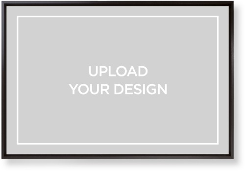 Upload Your Own Design Mounted Wall Art, Single piece, Black, 20 x 30 inches, Multicolor