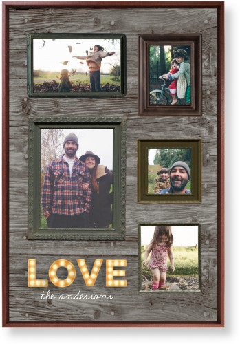 Photo Real Love Mounted Wall Art, Single piece, Brown, 20 x 30 inches, Brown