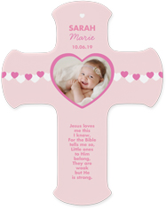 baby girl hearts wall cross