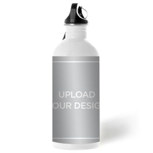 Upload Your Own Design Water Bottle, 20 oz, Multicolor