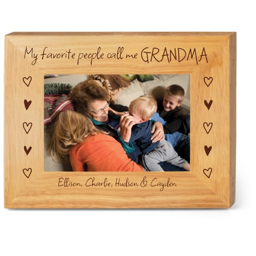 My Favorite People Wood Frame, - No photo insert, 9x7 Engraved Wood Frame, White