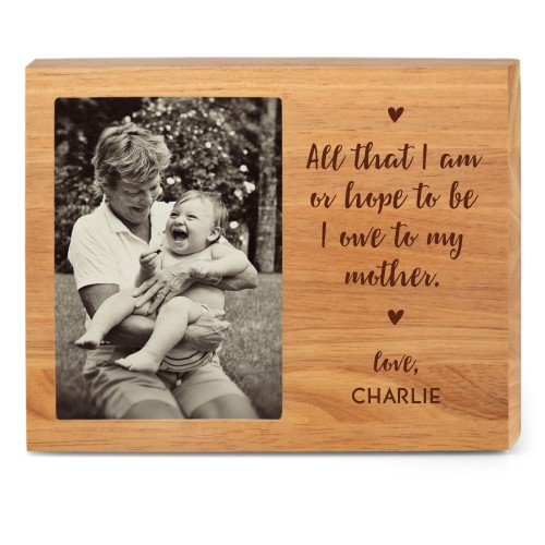 A Mother's Love Wood Frame