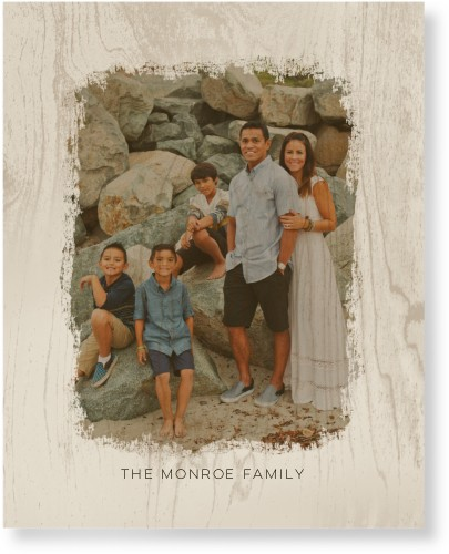 Brushed Memory Newsprint Wood Wall Art, Single piece, 16 x 20 inches, White