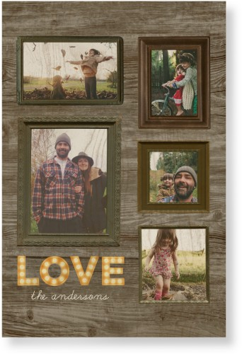 Photo Real Love Wood Wall Art, Single piece, 20 x 30 inches, Brown