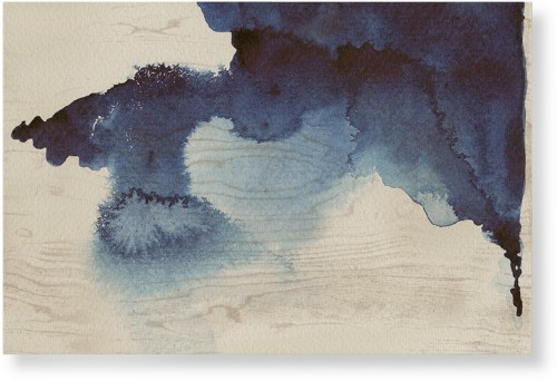 Blue Ink Blot Wood Wall Art, Single piece, 24 x 36 inches, Multicolor