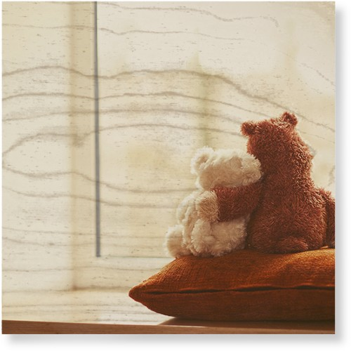 Bear Friends Wood Wall Art, Single piece, 12 x 12 inches, Multicolor
