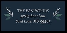 brushed botanicals address label