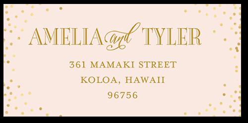 Effervescent Sparkle Address Label