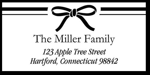 Bridal Ribbon Address Label