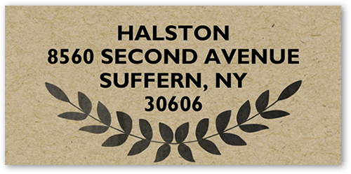 Chalked Initial Address Label