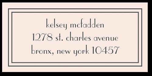 Framed Elegant Wishes Address Label