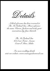 minimal script wedding enclosure card