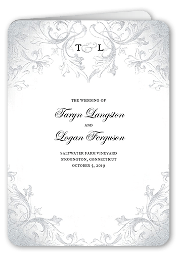 faded scroll papercuts invitation design