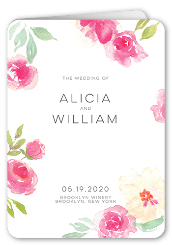 Floral Accessory Wedding Program