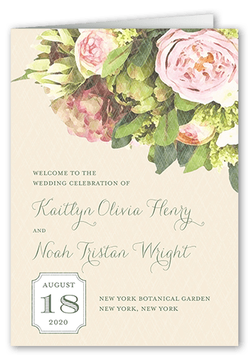Flowering Affection Wedding Program