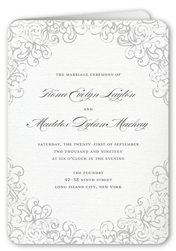 Dazzling Lace Wedding Program