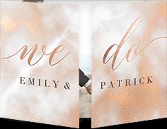 romantic texture wedding invitation