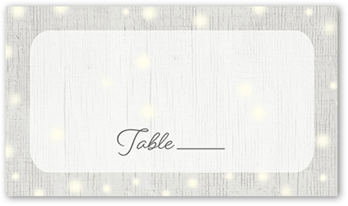 Glowing Ceremony Wedding Place Card
