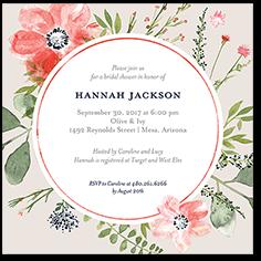 bridal bouquets bridal shower invitation