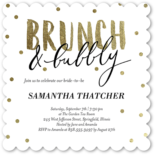 Bubbly Brunch 5x5 Flat Bridal Shower