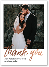 Can Be Customized Impeccable Gesture Thank You Card