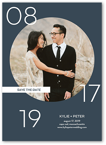 Circled Affection Save The Date, Square Corners