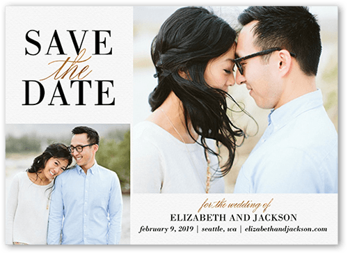Classic Request Save The Date, Square Corners