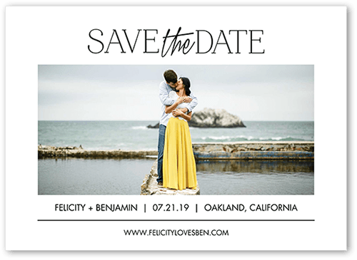 Simple Expression Save The Date, Square Corners