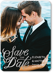 simply shimmering date save the date