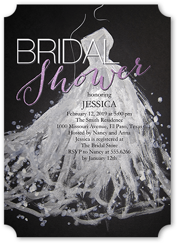 Sequin Splash Bridal Shower Invitation, Square